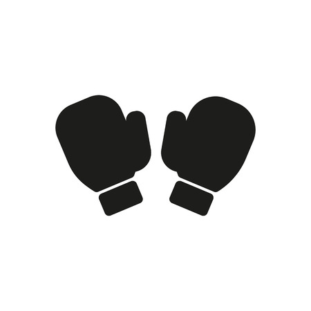 boxing glove: The boxing gloves icon. Game symbol. Flat Vector illustration