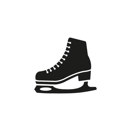 patinaje sobre hielo: El icono de patines. Figura patines símbolo. Ilustración vectorial Flat