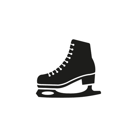 figure skater: The skates icon. Figure skates symbol. Flat Vector illustration
