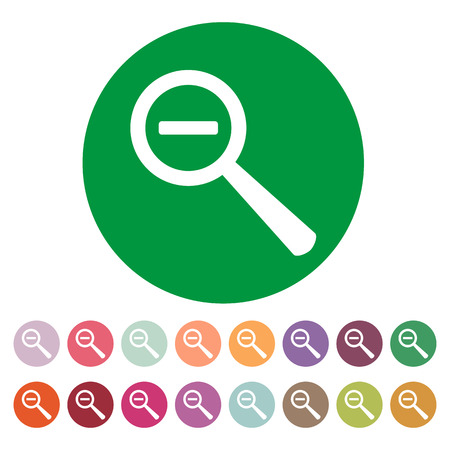 magnifier glass: The Magnifier Glass. Search icons. Vector. Set Illustration