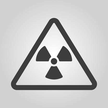 caesium: The radiation icon. Radiation symbol. Flat Vector illustration Illustration
