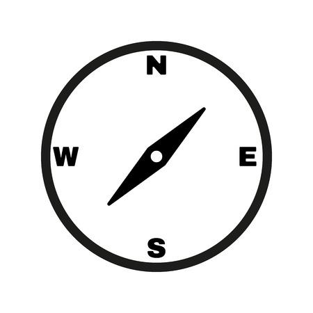 brujula: El icono de br�jula. Compass s�mbolo. Ilustraci�n vectorial Flat