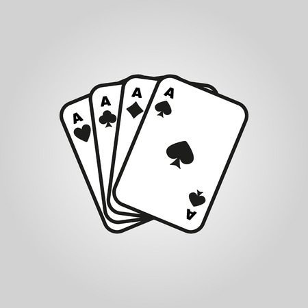 ace of diamonds: The Ace icon. Playing Card Suit symbol. Flat Vector illustration
