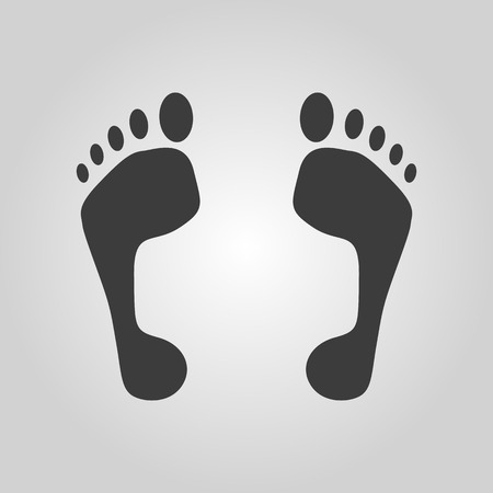 to commit: The footprint icon. foot symbol. Flat Vector illustration