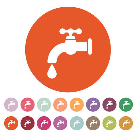 stopcock: The tap water icon. Water symbol. Flat Vector illustration. Button Set Illustration