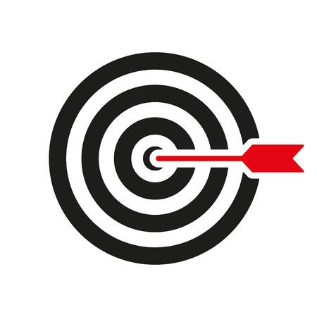 ターゲット アイコン。ターゲット シンボル マーク。フラットのベクトル図