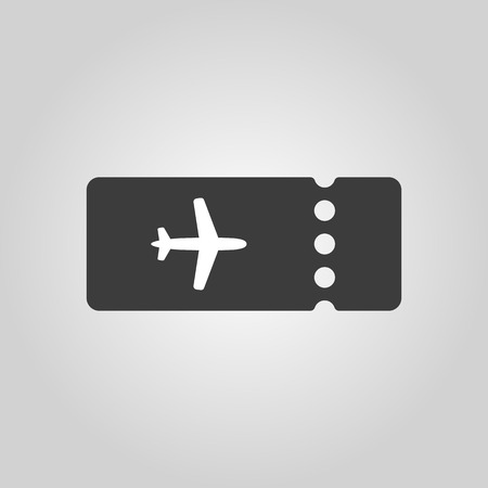 The blank ticket plane icon. Travel symbol. Flat Vector illustration