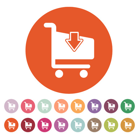 shoping: The cart shoping icon. Shop Cart symbol. Flat Vector illustration. Button Set Illustration
