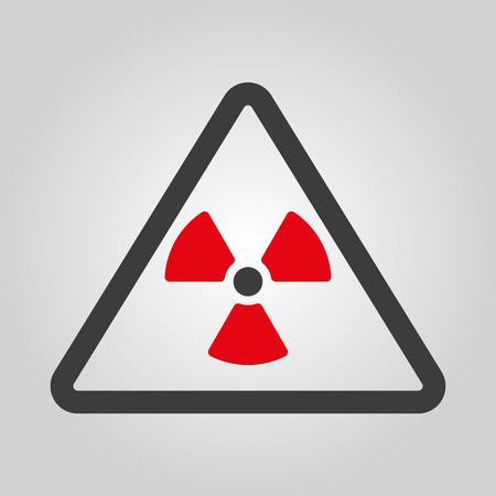 radiation: The radiation icon. Radiation symbol. Flat Vector illustration Illustration