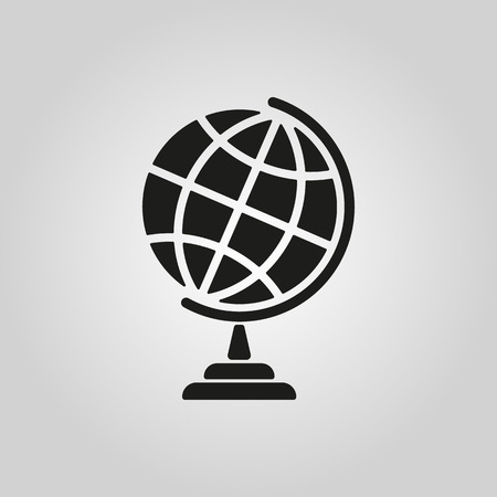 globo terraqueo: El icono del globo. Símbolo Globo. Ilustración vectorial Flat