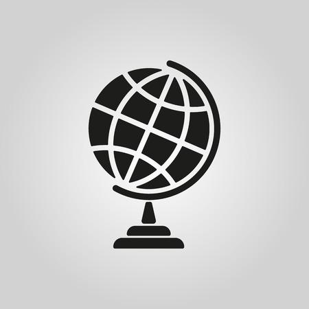 zeměkoule: Ikona zeměkoule. Symbol Globe. Flat vektorové ilustrace Ilustrace