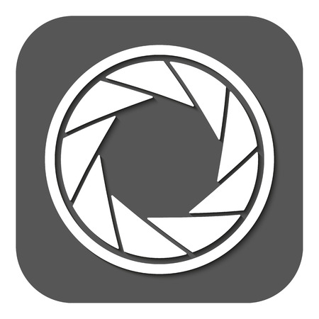 video shooting: The diaphragm icon. Aperture symbol. Flat Vector illustration. Button