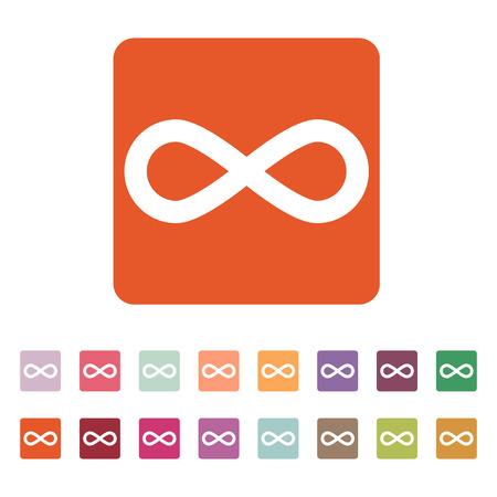 The infinity icon. Infinity symbol. Flat Vector illustration. Button Set