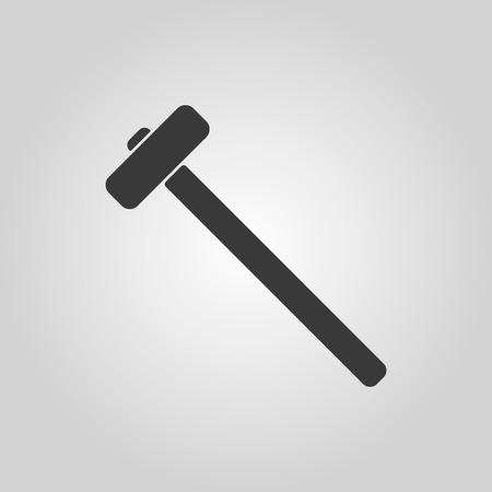 impact tool: The sledgehammer icon. Sledgehammer symbol. Flat Vector illustration
