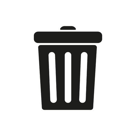 dustbin: The trashcan icon. Dustbin symbol. Flat Vector illustration Illustration