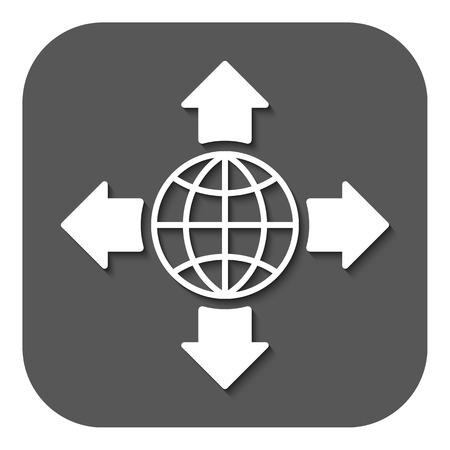 global navigation system: The navigation icon. Location symbol. Flat Vector illustration. Button Illustration