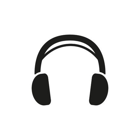 audifonos: El icono de auriculares. Símbolo de sonido. Ilustración vectorial Flat
