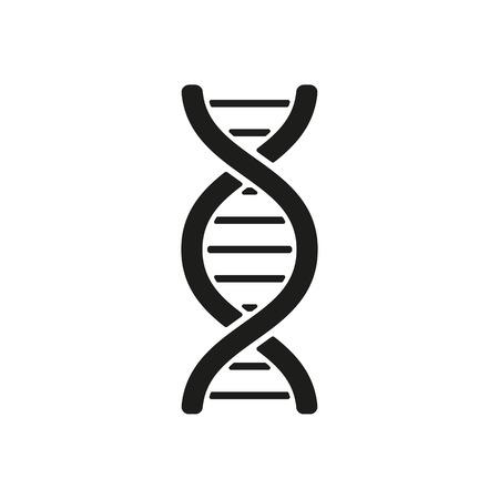 The dna icon. DNA symbol. Flat Vector illustration Vettoriali