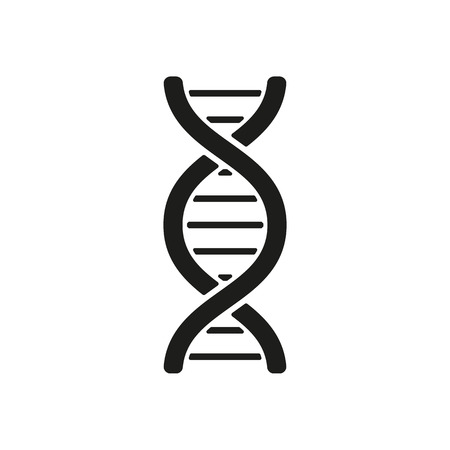 The dna icon. DNA symbol. Flat Vector illustration Ilustracja