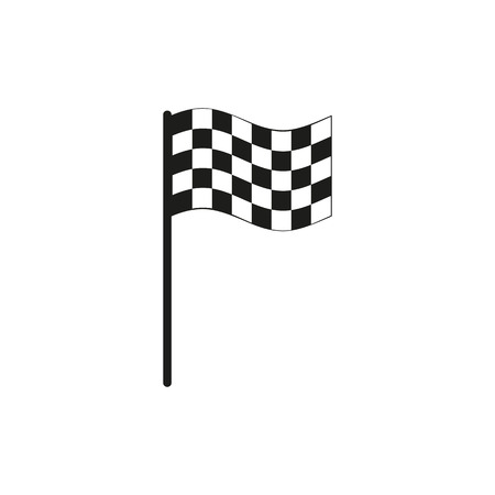 accomplish: The checkered flag icon. Finish symbol. Flat Vector illustration