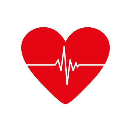 pulsating: The heart and cardiogram icon