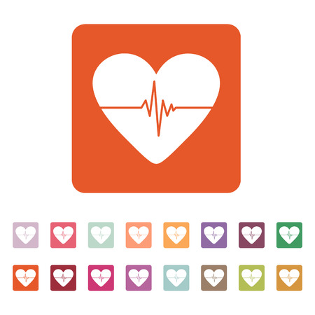 cardiogram: The heart and cardiogram icon