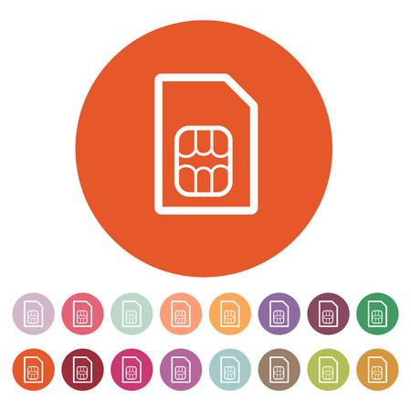 The sim card icon