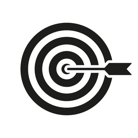 arrow target: The target icon Illustration