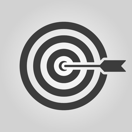 opportunity sign: The target icon. Target symbol. Flat Vector illustration Illustration