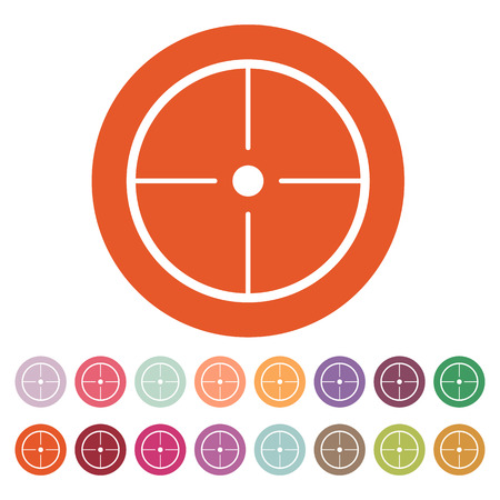 sharpshooter: The crosshair icon. Search symbol. Flat Vector illustration. Button Set