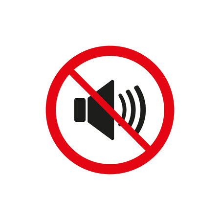 sound off: The no sound icon. Volume Off symbol. Flat Vector illustration