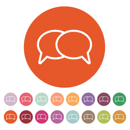 speech icon: The speech bubbles icon. Talk symbol. Flat Vector illustration. Button Set
