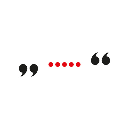 The quote icon. Quotation symbol. Flat Vector illustration