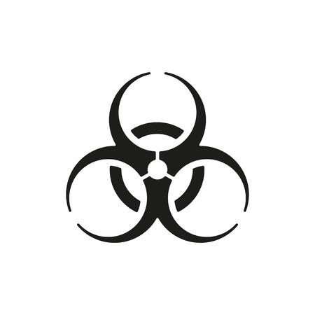 symbole chimique: L'icône de risque biologique. Biohazard symbol. Flat Vector illustration Illustration