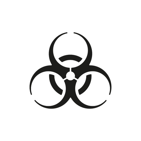 biohazard: The biohazard icon. Biohazard symbol. Flat Vector illustration Illustration