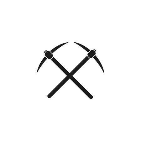 pick: The pick icon. Pickax symbol. Flat Vector illustration