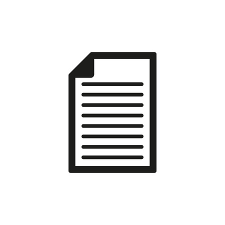 El icono de documento. Notas símbolo. Ilustración vectorial Flat