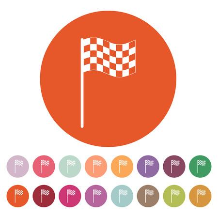accomplish: The checkered flag icon Illustration