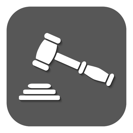The judge or auction hammer icon