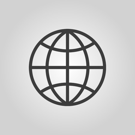 globo mundo: El icono del globo Vectores
