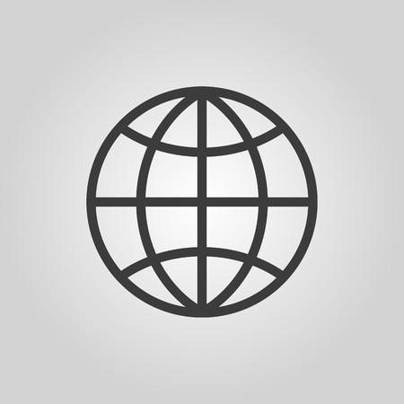 zeměkoule: Ikona zeměkoule Ilustrace