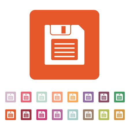 floppy disk: The floppy disk icon