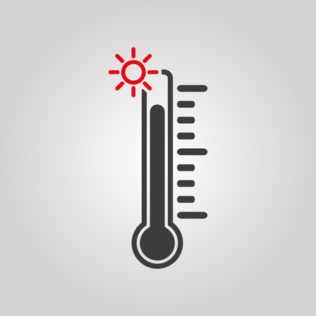 high scale: The thermometer icon