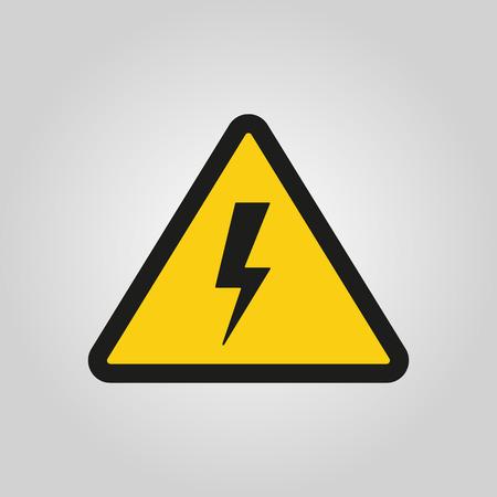 signs symbols danger: The lightning icon