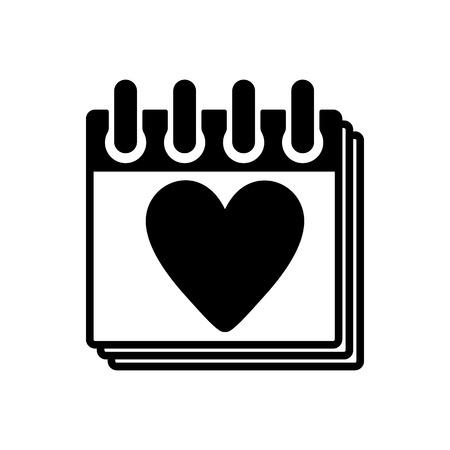 calendar icon: The calendar icon Illustration