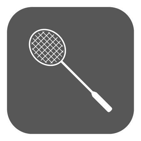 badminton: The badminton icon. Game symbol. Flat Vector illustration. Button