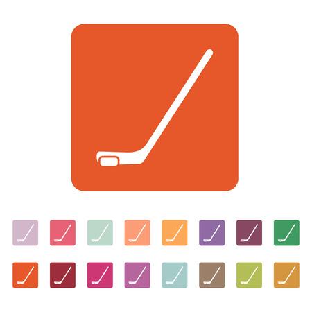 wintersport: Hockey icon Illustration