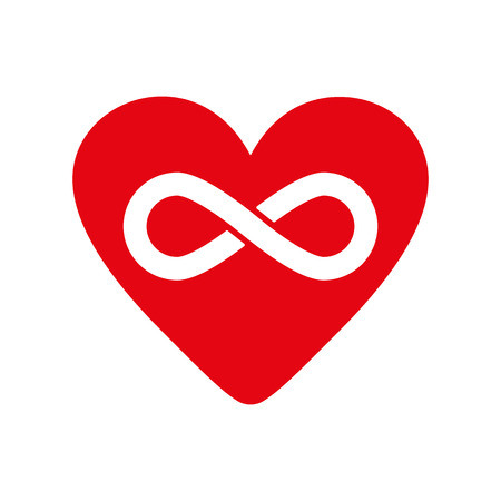 infinity icon: The heart and infinity icon