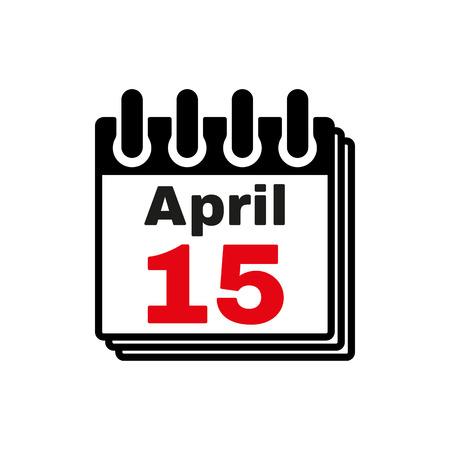 4월: The Calendar 15 april icon 일러스트
