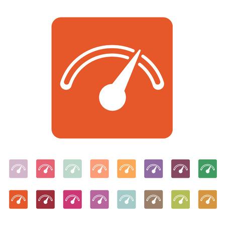 tacometro: El icono tac�metro, veloc�metro e indicador